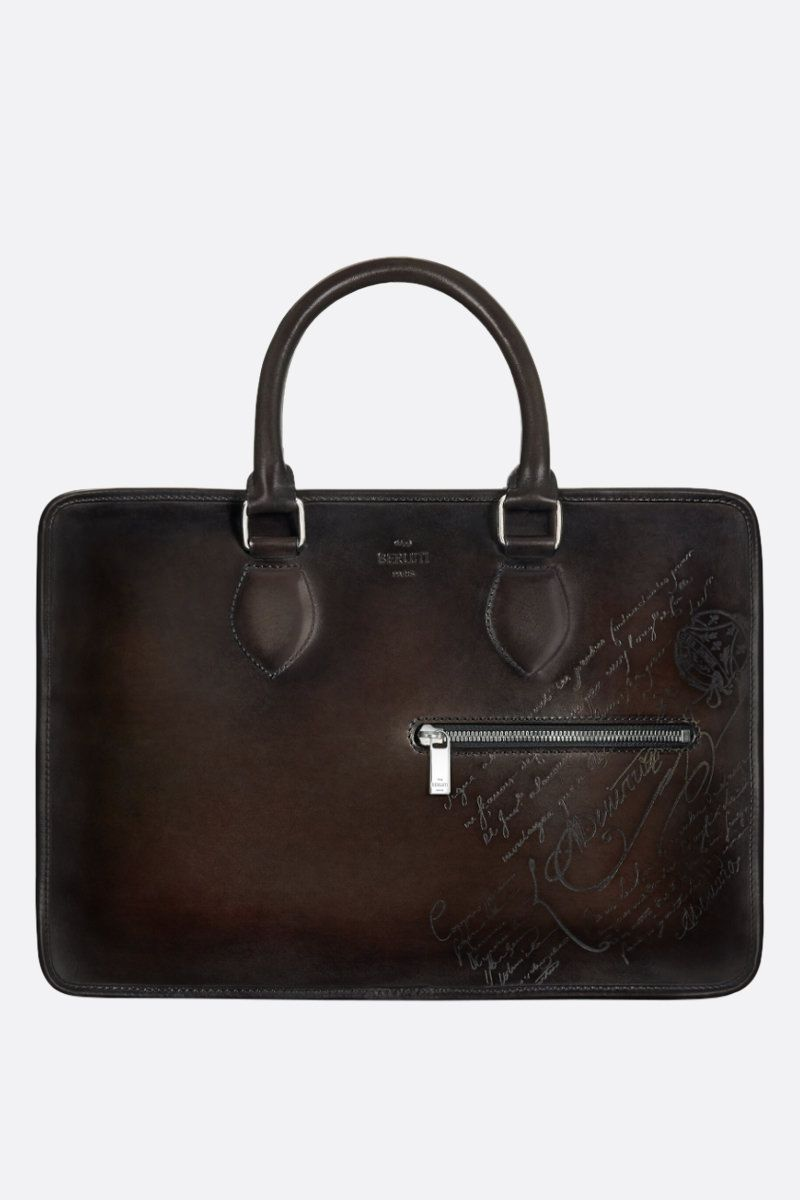 BERLUTI: 1 Jour mini briefcase in Scritto leather