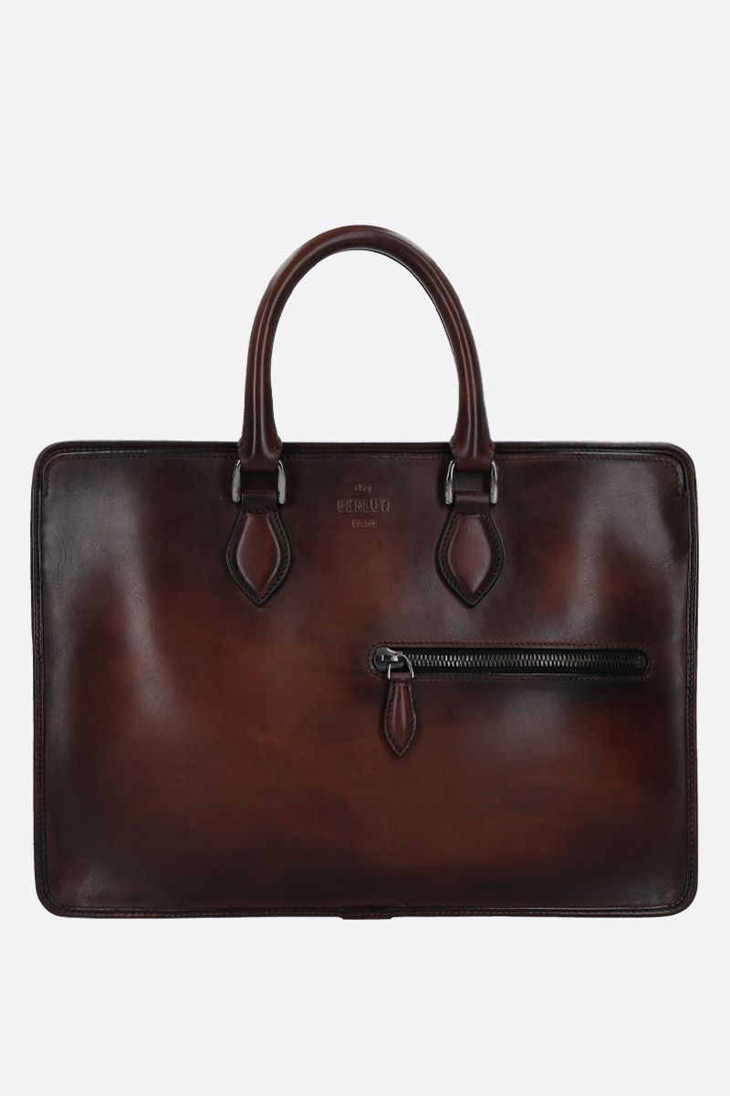 BERLUTI: 1 Jour smooth leather briefcase_1