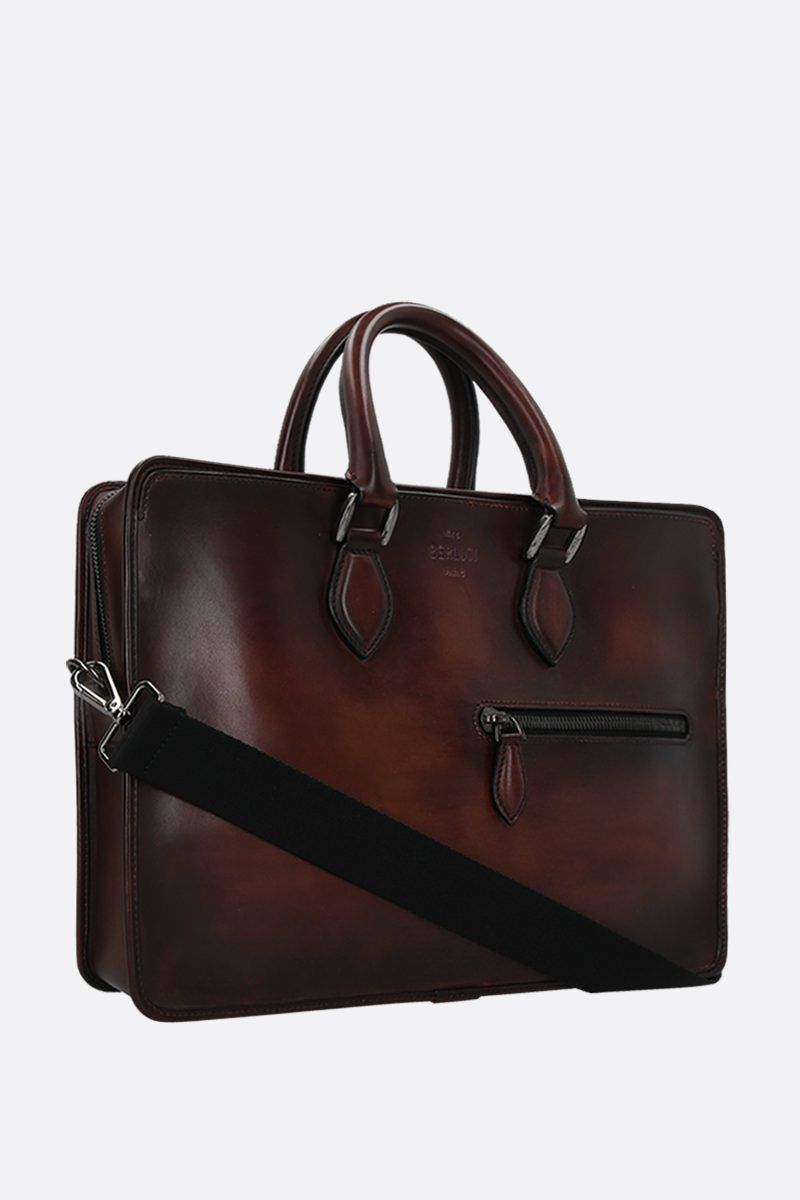 BERLUTI: 1 Jour smooth leather briefcase_2