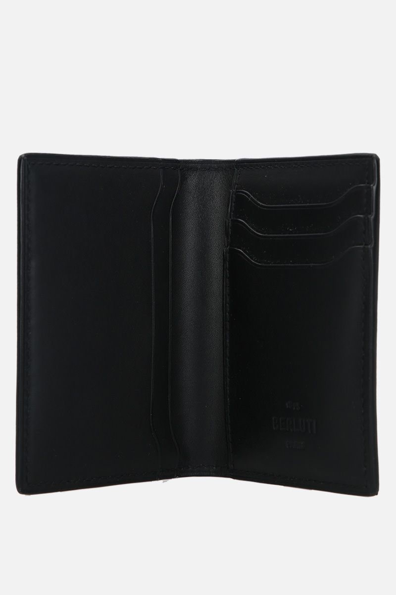 BERLUTI: Jagua card holder in Scritto leather Color Black_2