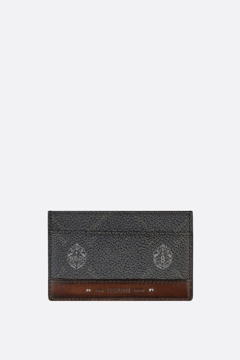 BERLUTI: Sejour canvas and smooth leather card case Color Black_1