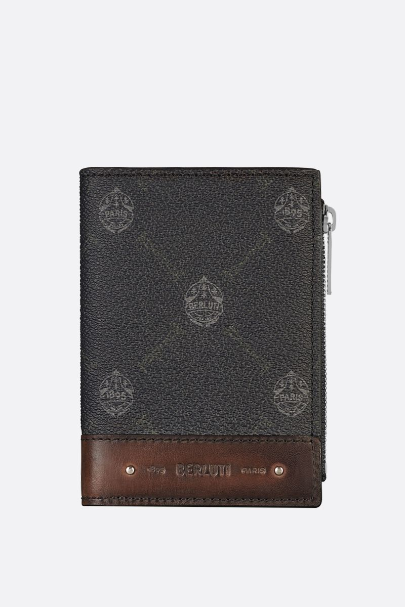 BERLUTI: Periple canvas and smooth leather wallet Color Black_1