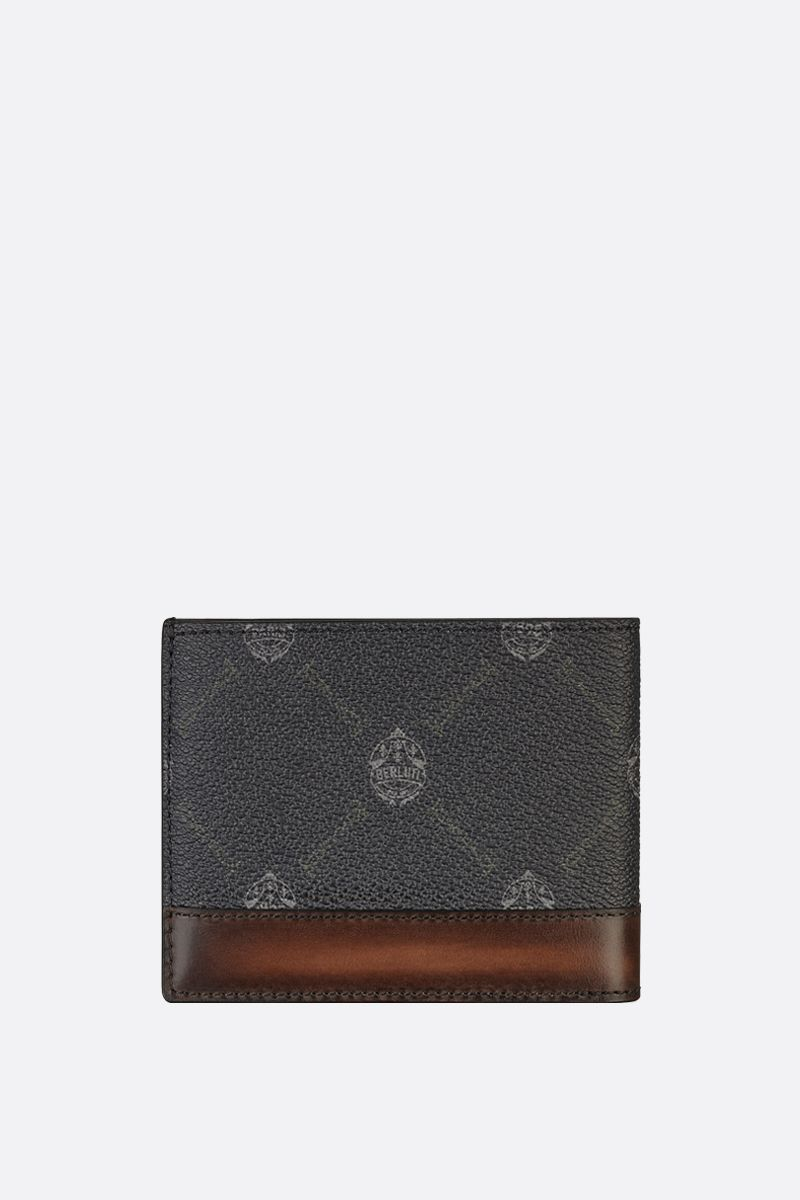BERLUTI: Excursion canvas and smooth leather billfold wallet Color Black_2
