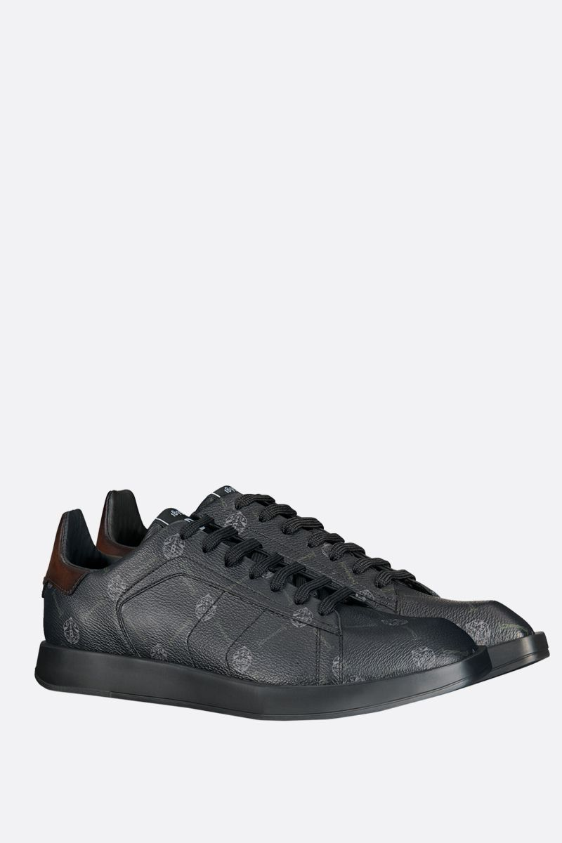 BERLUTI: Stellar canvas and smooth leather sneakers Color Black_2