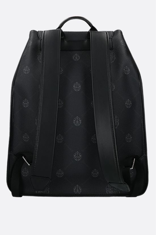 BERLUTI: Voyageur canvas and smooth leather backpack Color Black_2