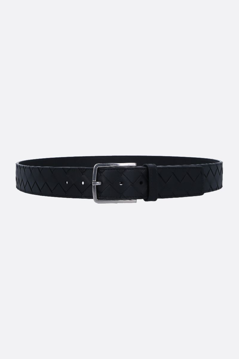 BOTTEGA VENETA: Intrecciato VN classic belt Color Black_1