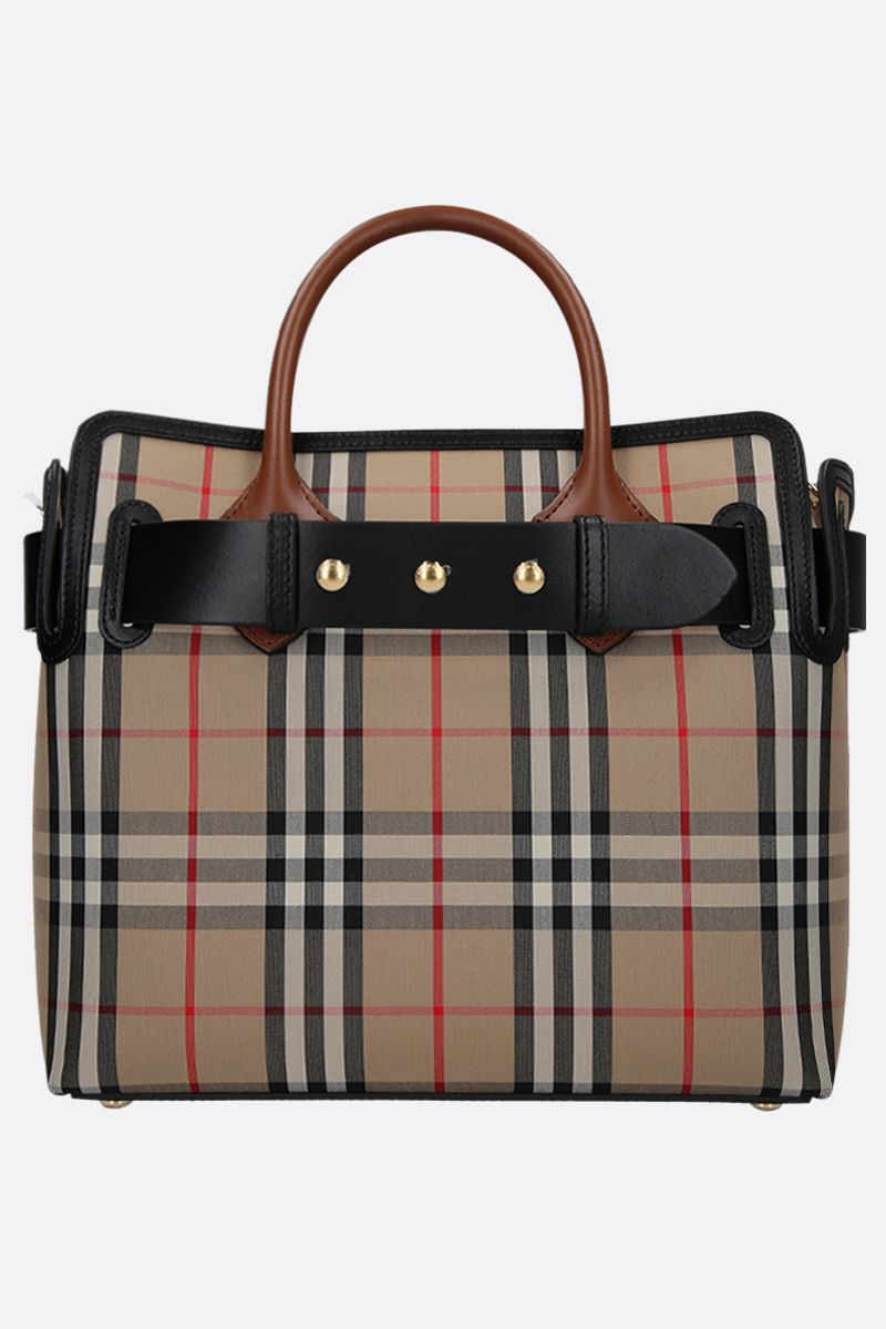Burberry borsa the barrel vintage check color marrone
