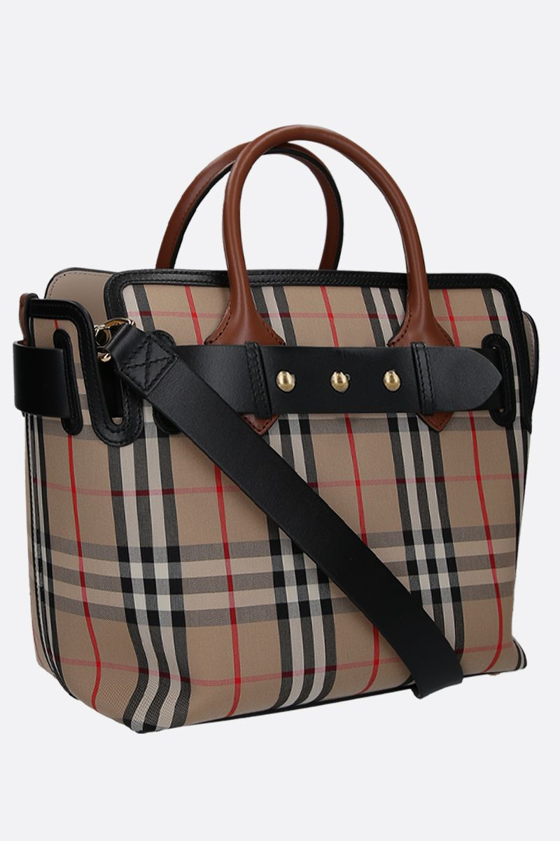 BURBERRY: The Belt small canvas handbag Color Brown_2