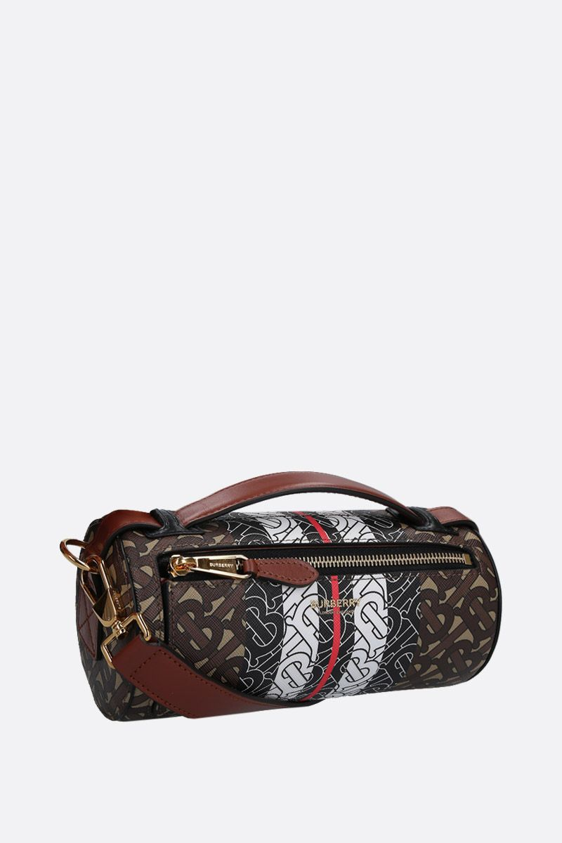 BURBERRY: The Barrel coated canvas shoulder bag_2
