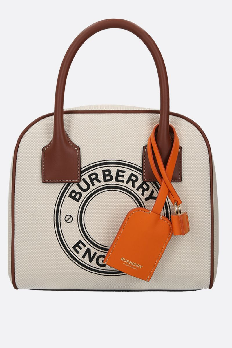 BURBERRY: borsa bowling Cube small in canvas_1