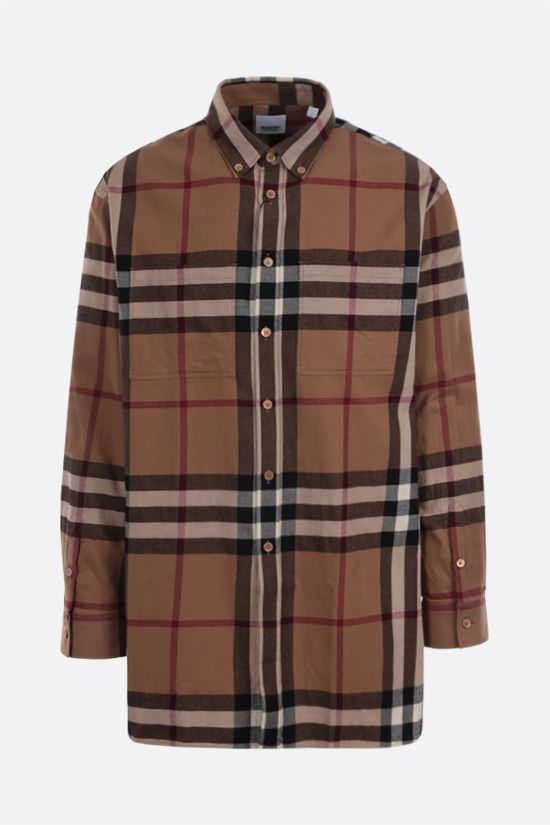 BURBERRY: camicia in flanella a motivo House check_1