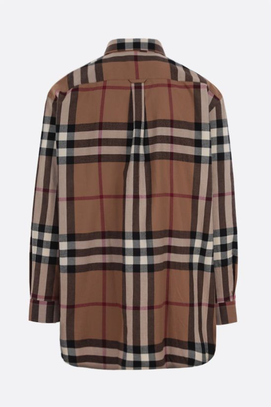 BURBERRY: House check flannel shirt_2