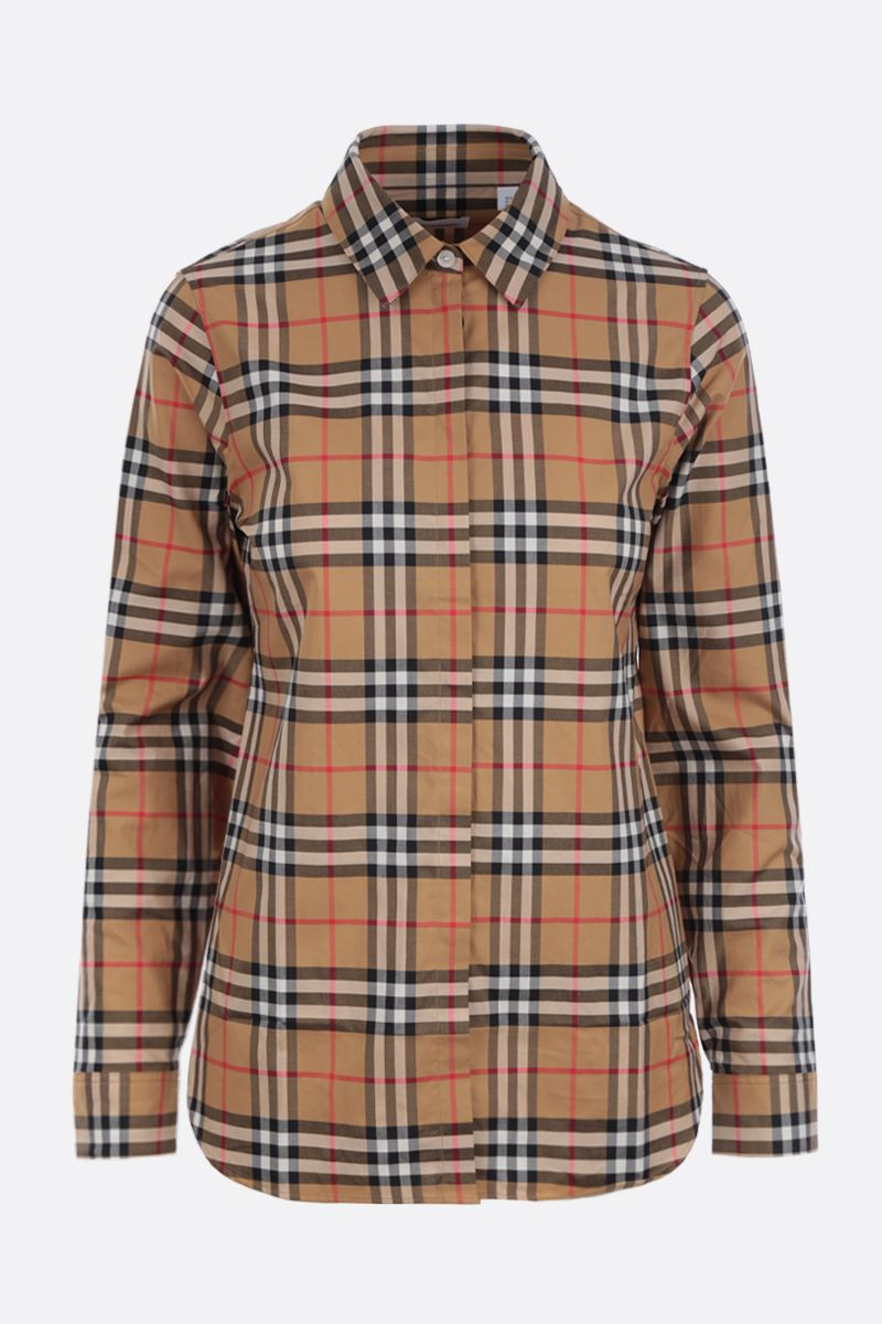 BURBERRY: Crow cotton shirt Color Yellow_1