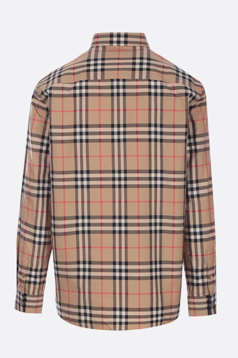 BURBERRY: camicia Caxcton in popeline Vintage check Colore Marrone_2