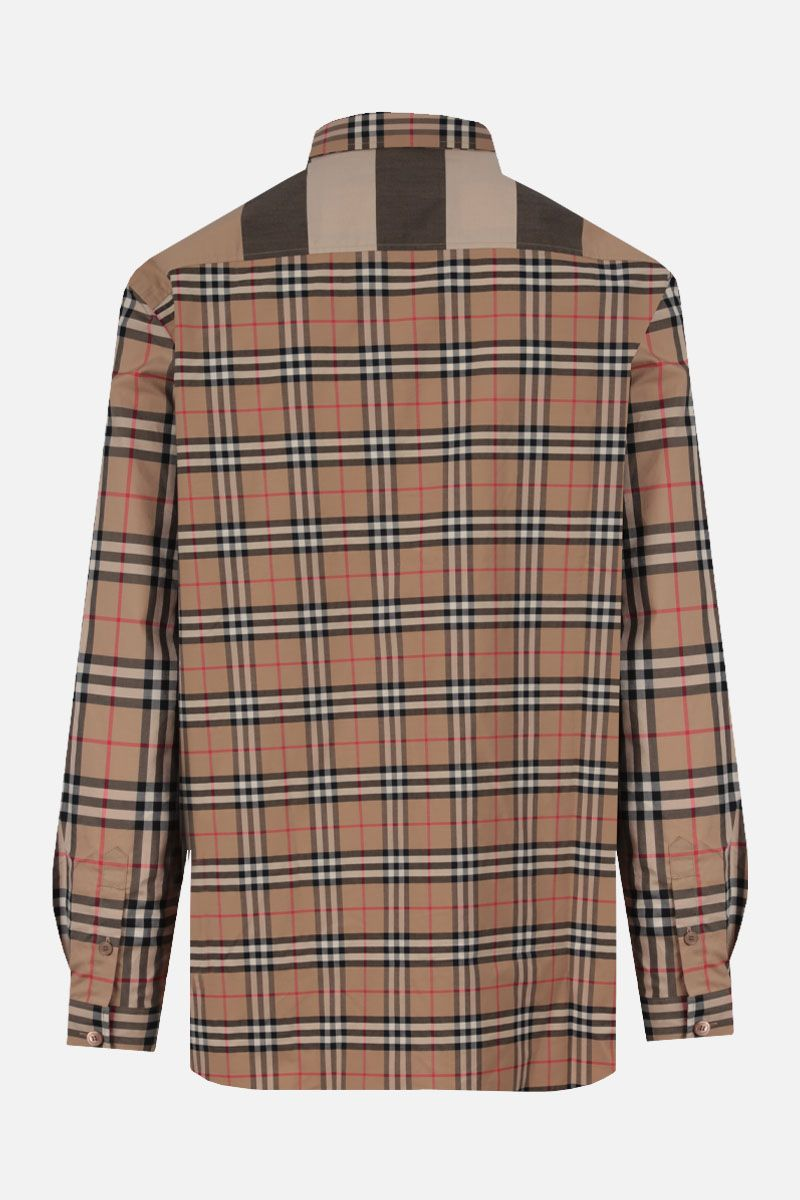 BURBERRY: Tisford stretch cotton oversize shirt Color Brown_2