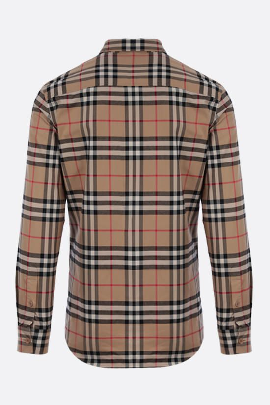 BURBERRY: camicia Carver in cotone Vintage check Colore Marrone_2