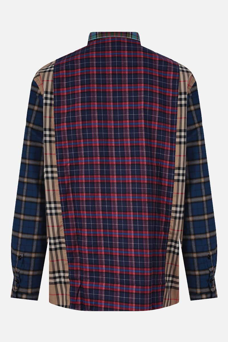 BURBERRY: tindall pw m/l patchwork check con tasche applicate Colore Multicolore_2