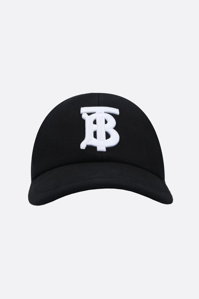 BURBERRY: TB embroidered cotton baseball cap Color Black_1