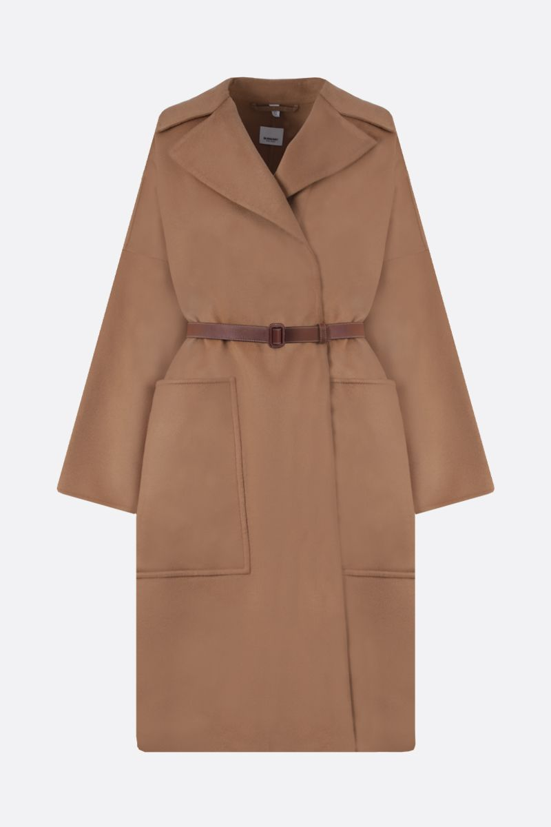 BURBERRY: Belton pure cashmere wrap coat Color Neutral_1