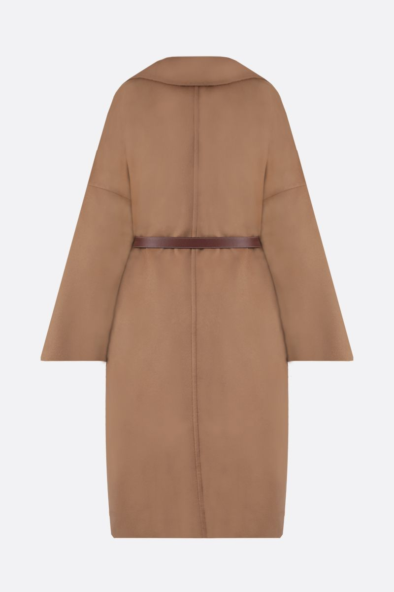 BURBERRY: Belton pure cashmere wrap coat Color Neutral_2