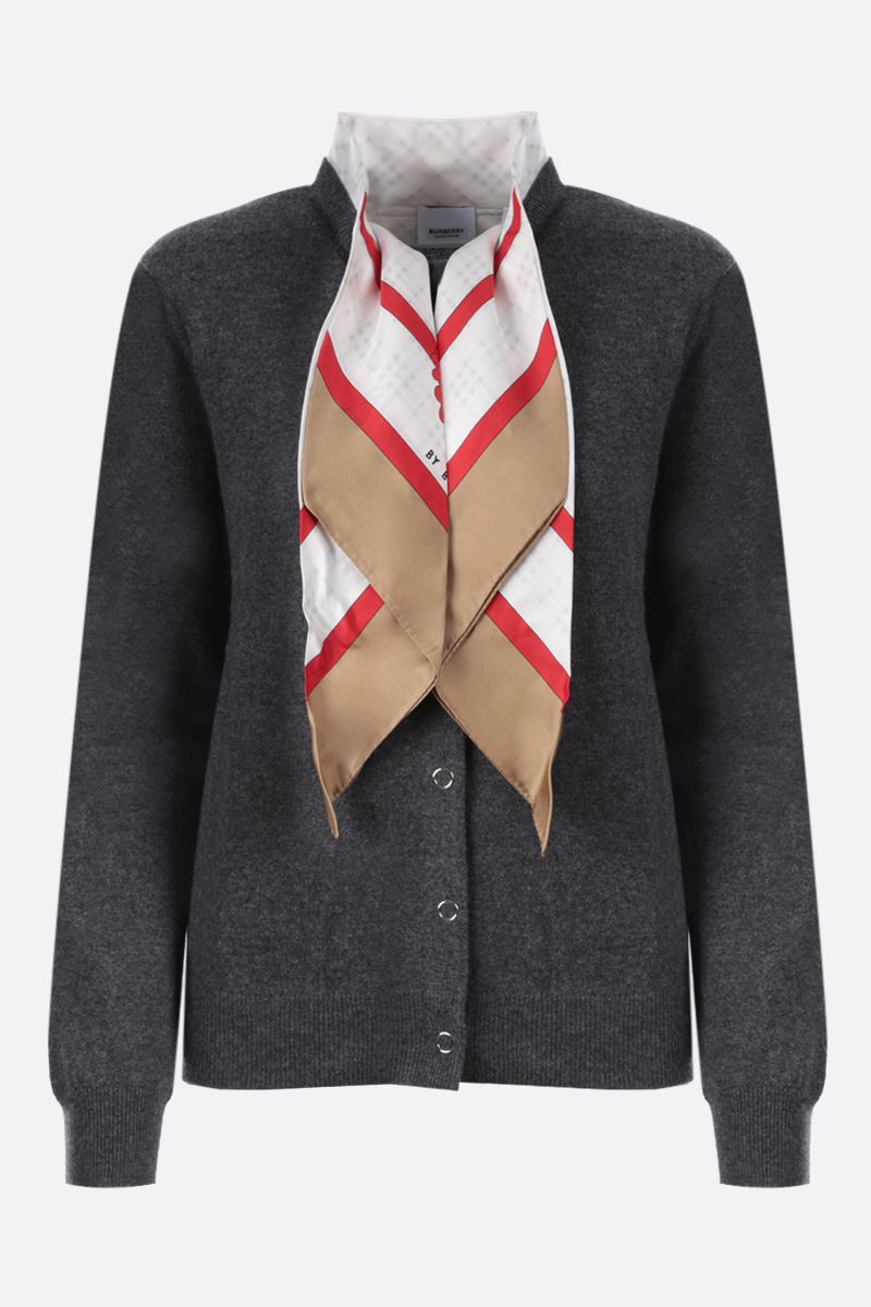 BURBERRY: Maggie cashmere cardigan Color Grey_1