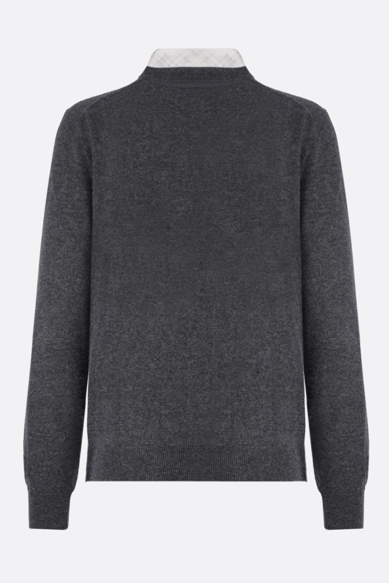BURBERRY: Maggie cashmere cardigan Color Grey_2