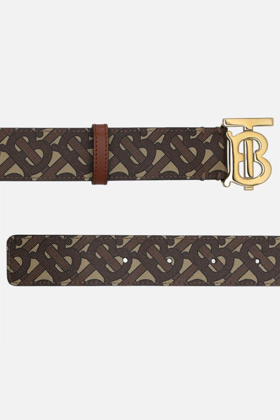 BURBERRY: TB coated canvas belt_2