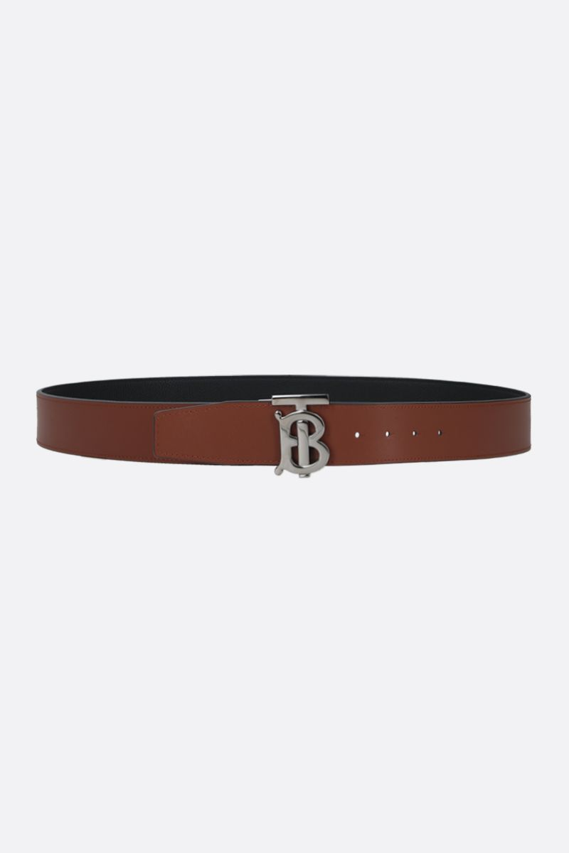 BURBERRY: TB buckle-detailed leather reversible belt_2