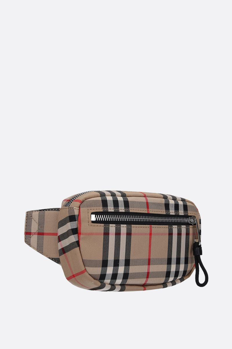 BURBERRY: Cannon Vintage check nylon belt bag Color Brown_2