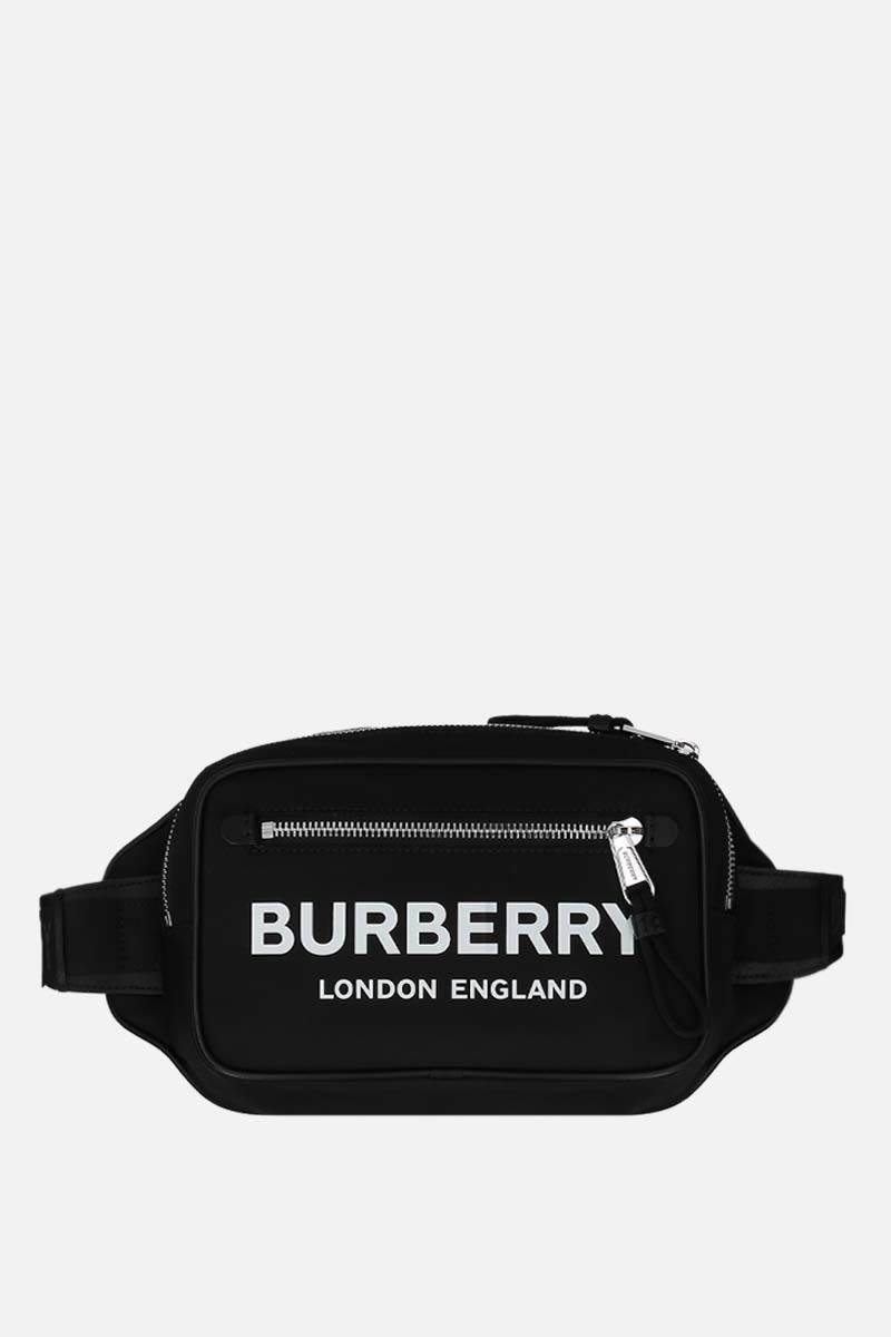 BURBERRY: marsupio West in ECONYL® Colore Nero_1