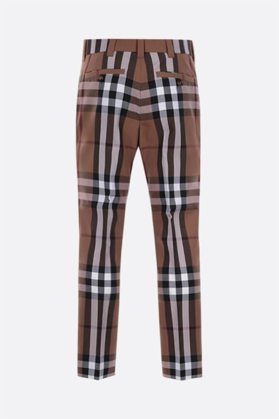 BURBERRY: House check wool pants Color Brown_2