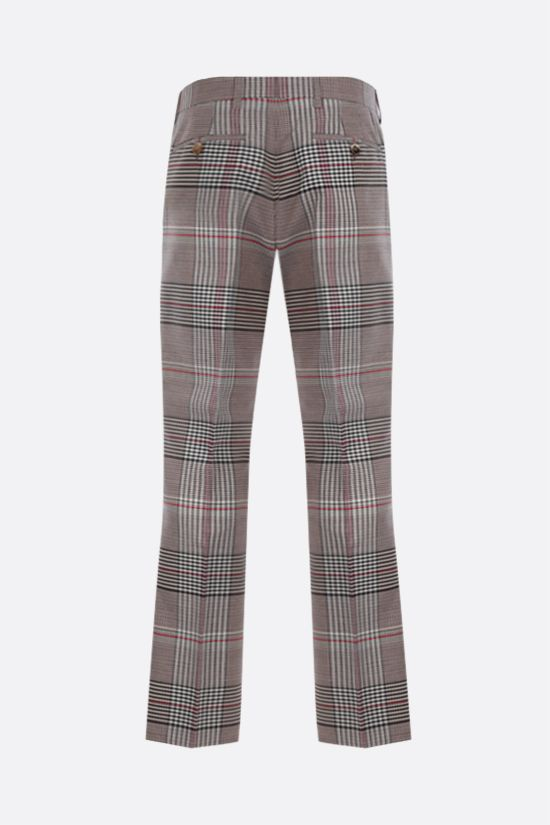 BURBERRY: pantalone straight-fit in lana a motivo tartan Colore Neutro_2