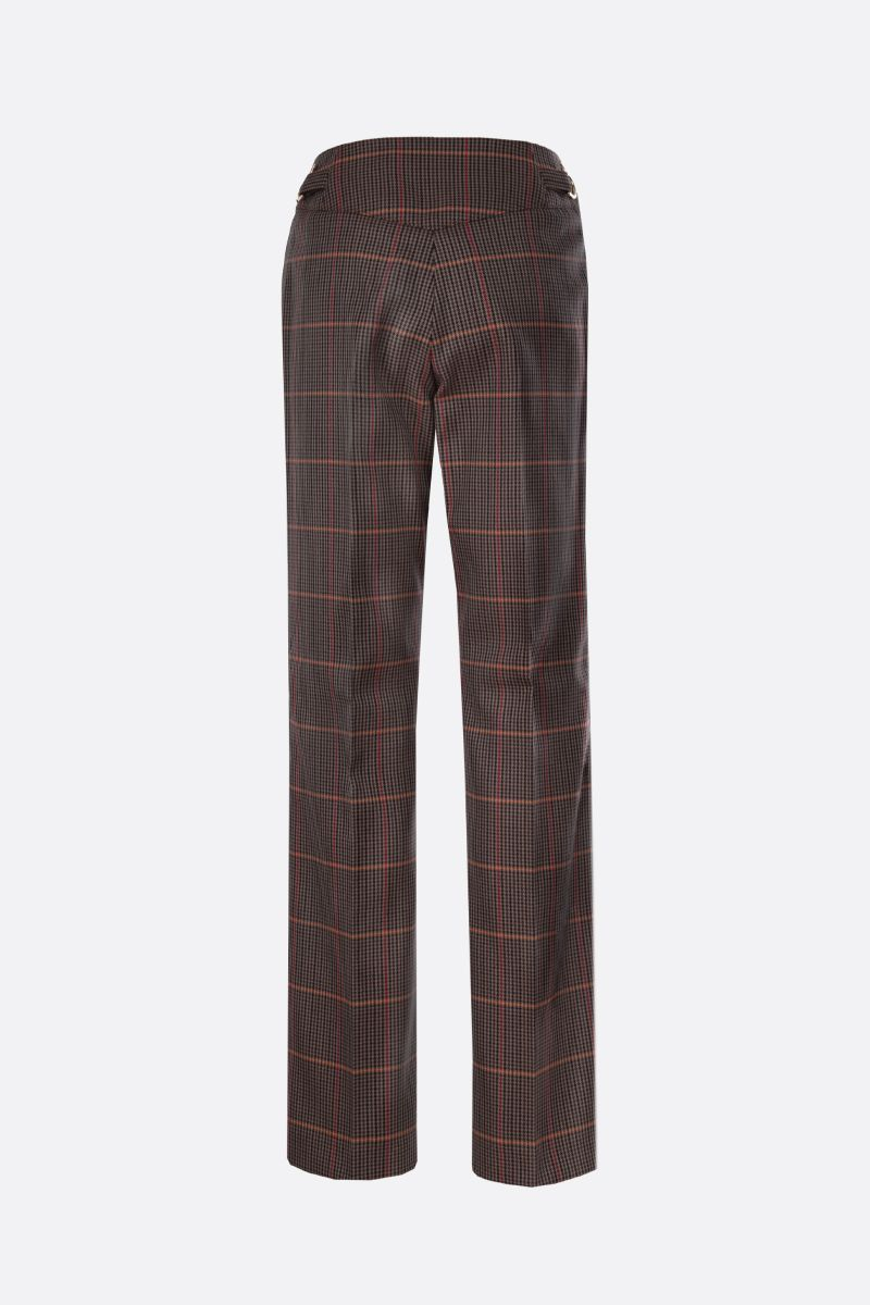 BURBERRY: pantalone Lovisa in misto lana principe di Galles Colore Marrone_2