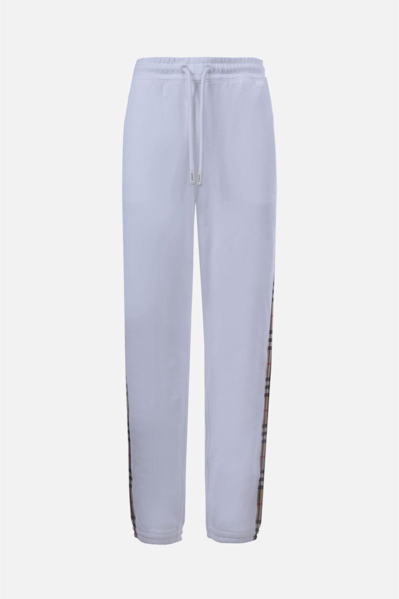 BURBERRY: Raine cotton joggers Color White_1