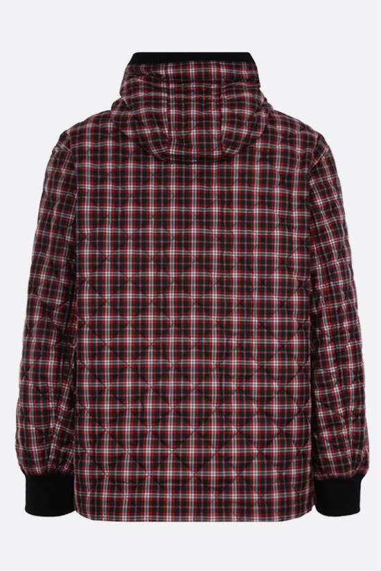 BURBERRY: check nylon quilted jacket Color Red_2