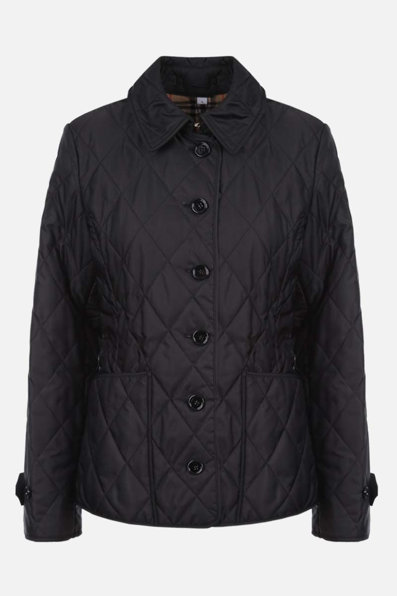 BURBERRY: Fernleigh nylon quilted jacket Color Black_1