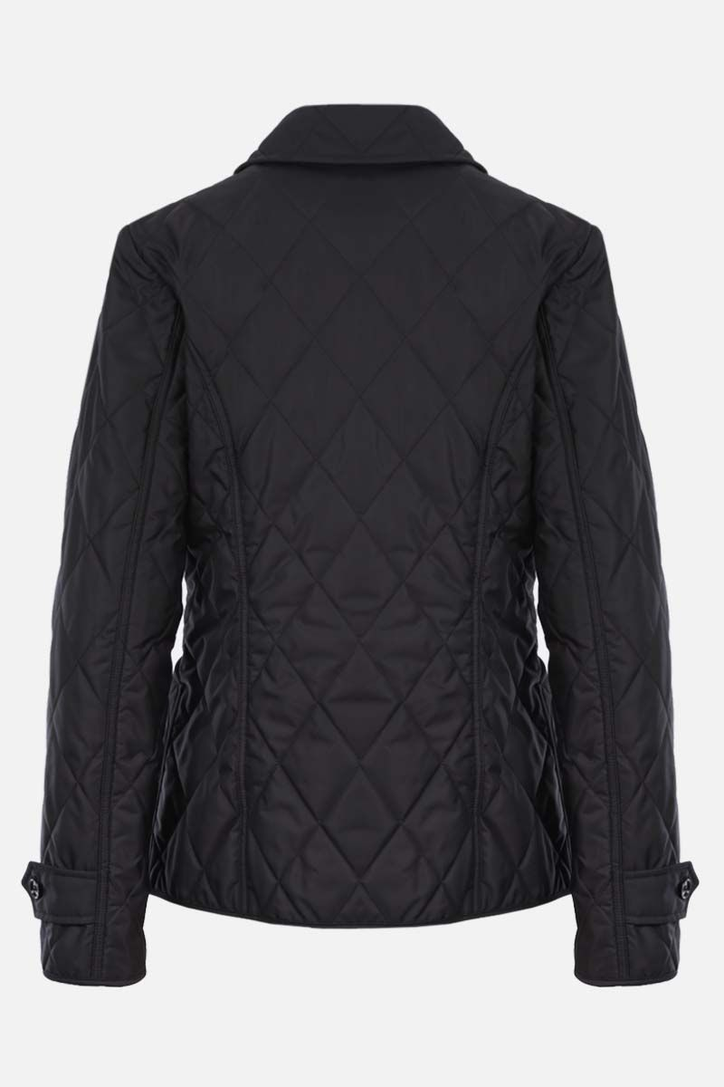 BURBERRY: Fernleigh nylon quilted jacket Color Black_2