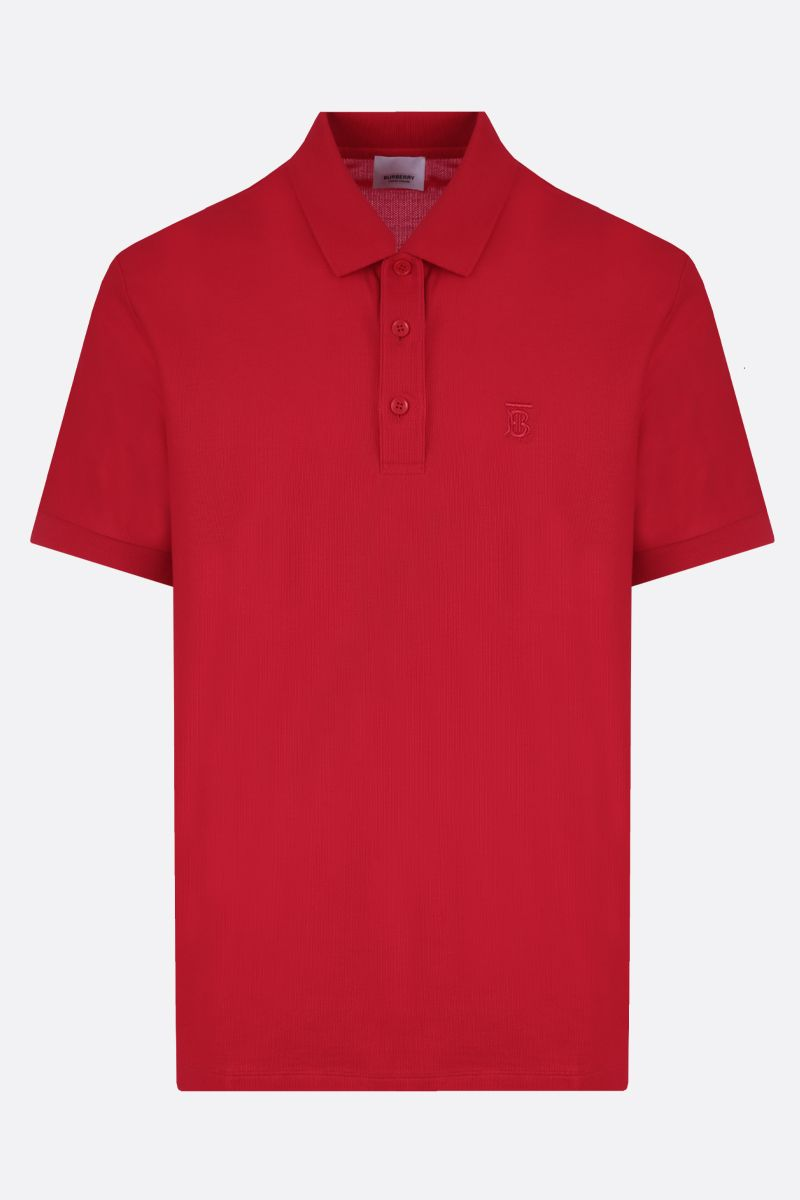 BURBERRY: Eddie cotton polo shirt Color Red_1