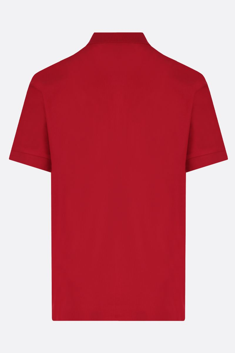 BURBERRY: Eddie cotton polo shirt Color Red_2