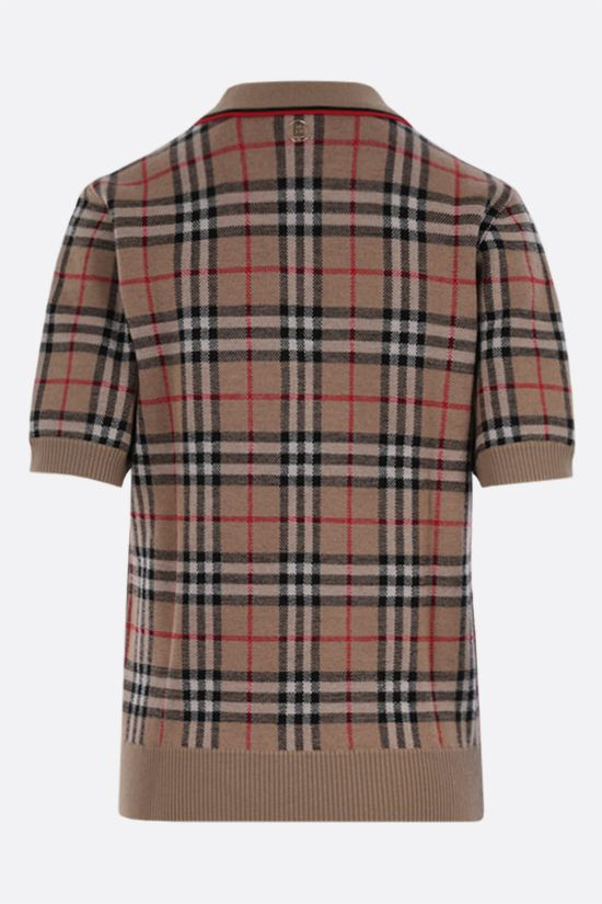BURBERRY: Chatterton Vintage check wool polo shirt Color Brown_2