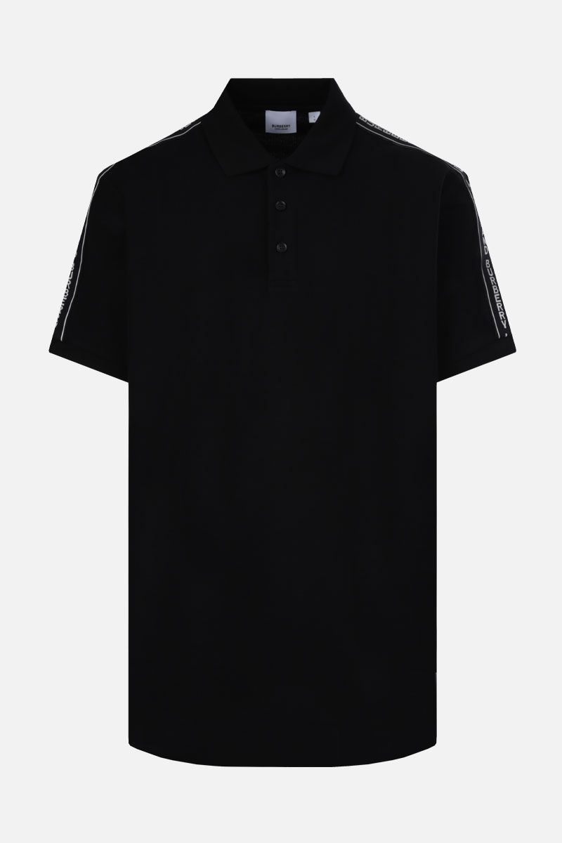 BURBERRY: Stonely cotton polo shirt Color Black_1