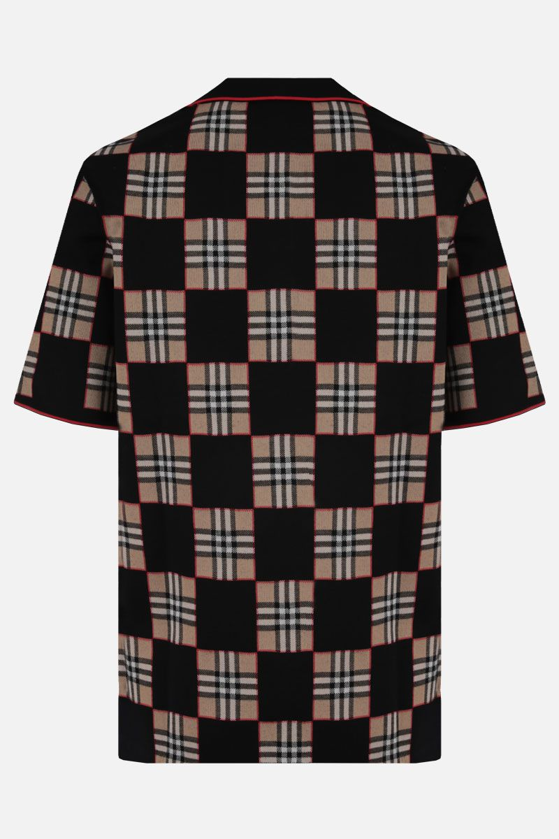 BURBERRY: polo Blakeford in misto merino Colore Marrone_2