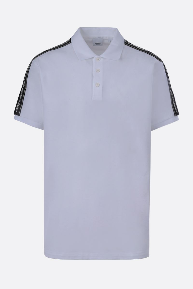 BURBERRY: Stonely cotton polo shirt Color White_1