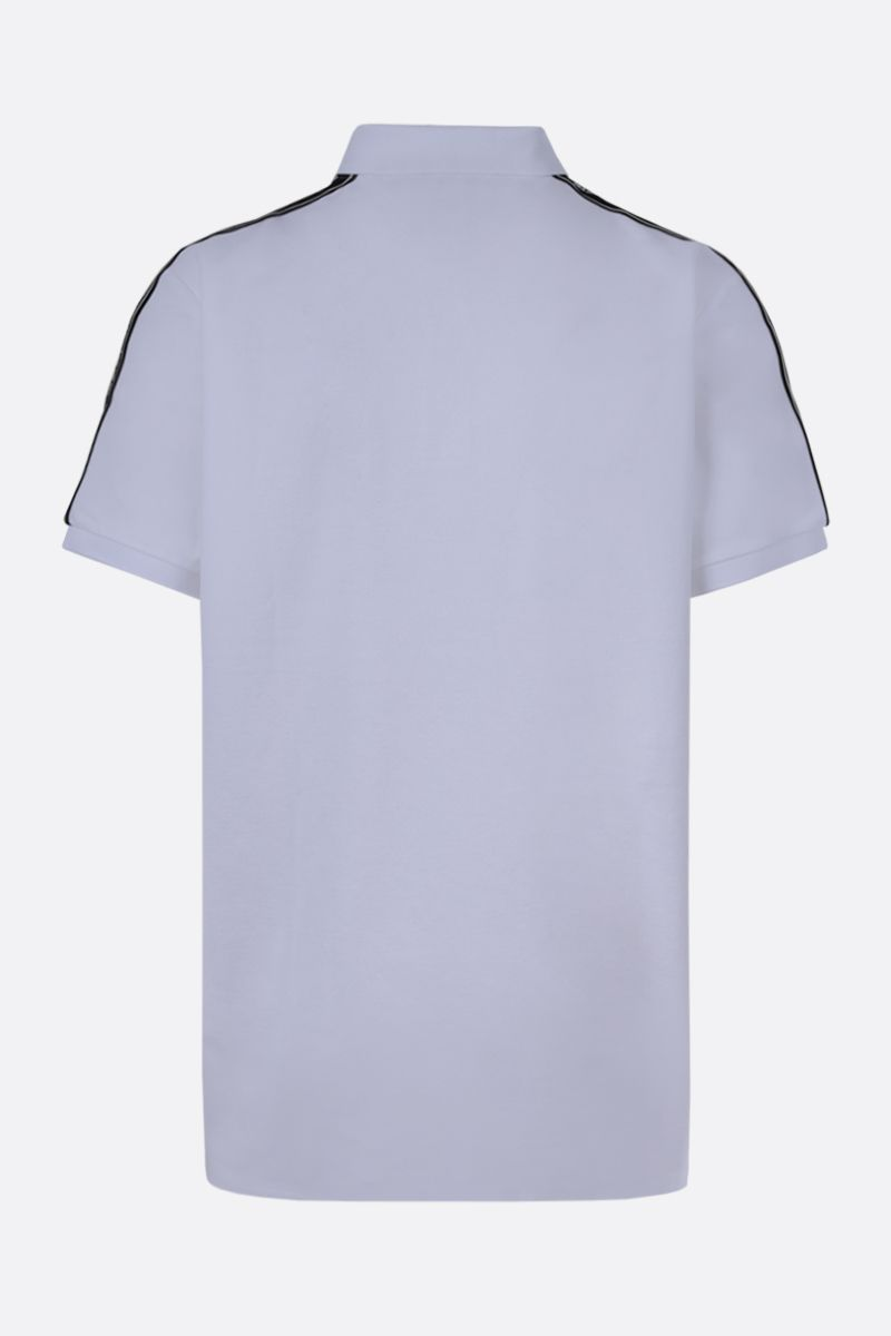 BURBERRY: Stonely cotton polo shirt Color White_2