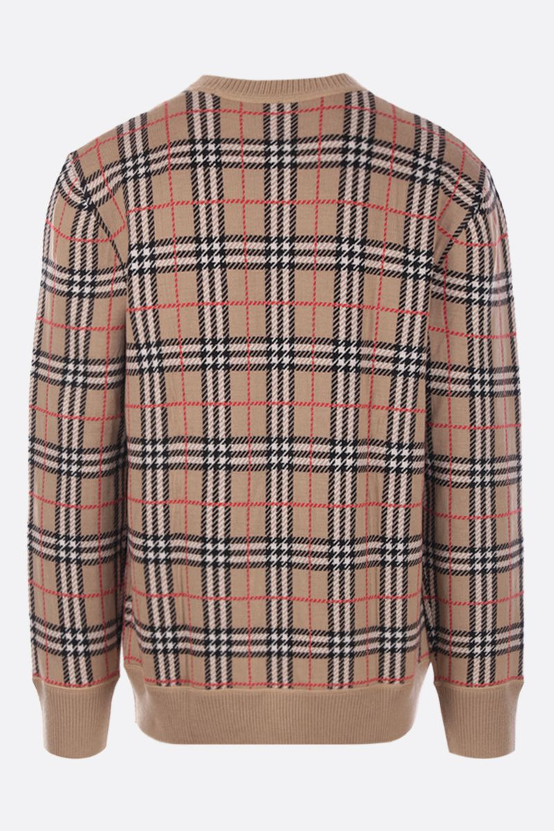 BURBERRY: pullover Fletcher in lana Colore Marrone_2