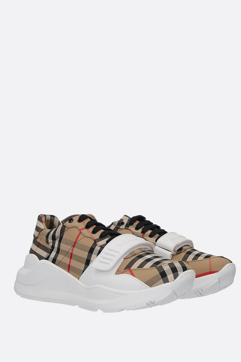 BURBERRY: Regis Vintage check canvas sneakers_2