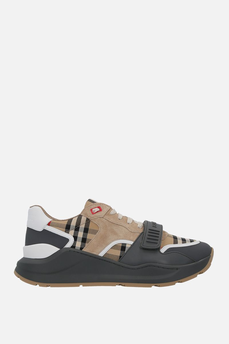 BURBERRY: sneaker Ramsey in canvas e suede_1