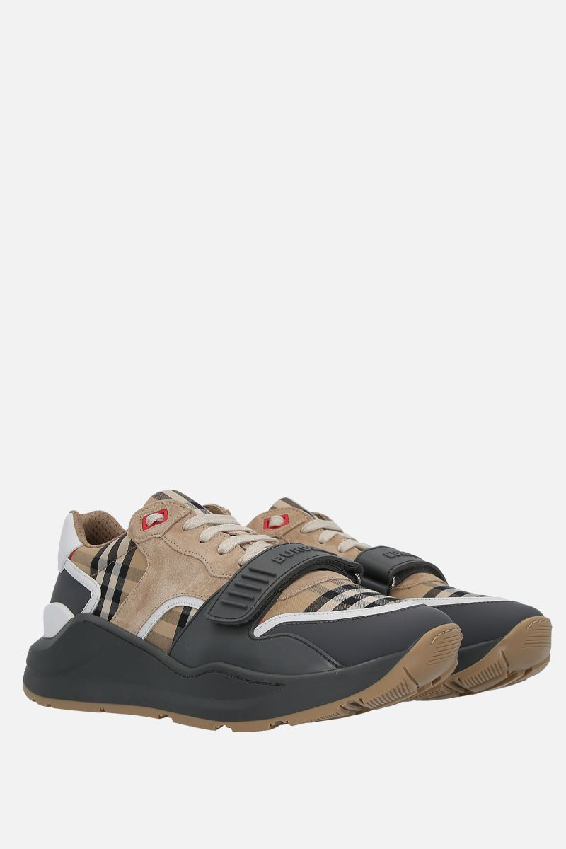BURBERRY: sneaker Ramsey in canvas e suede_2