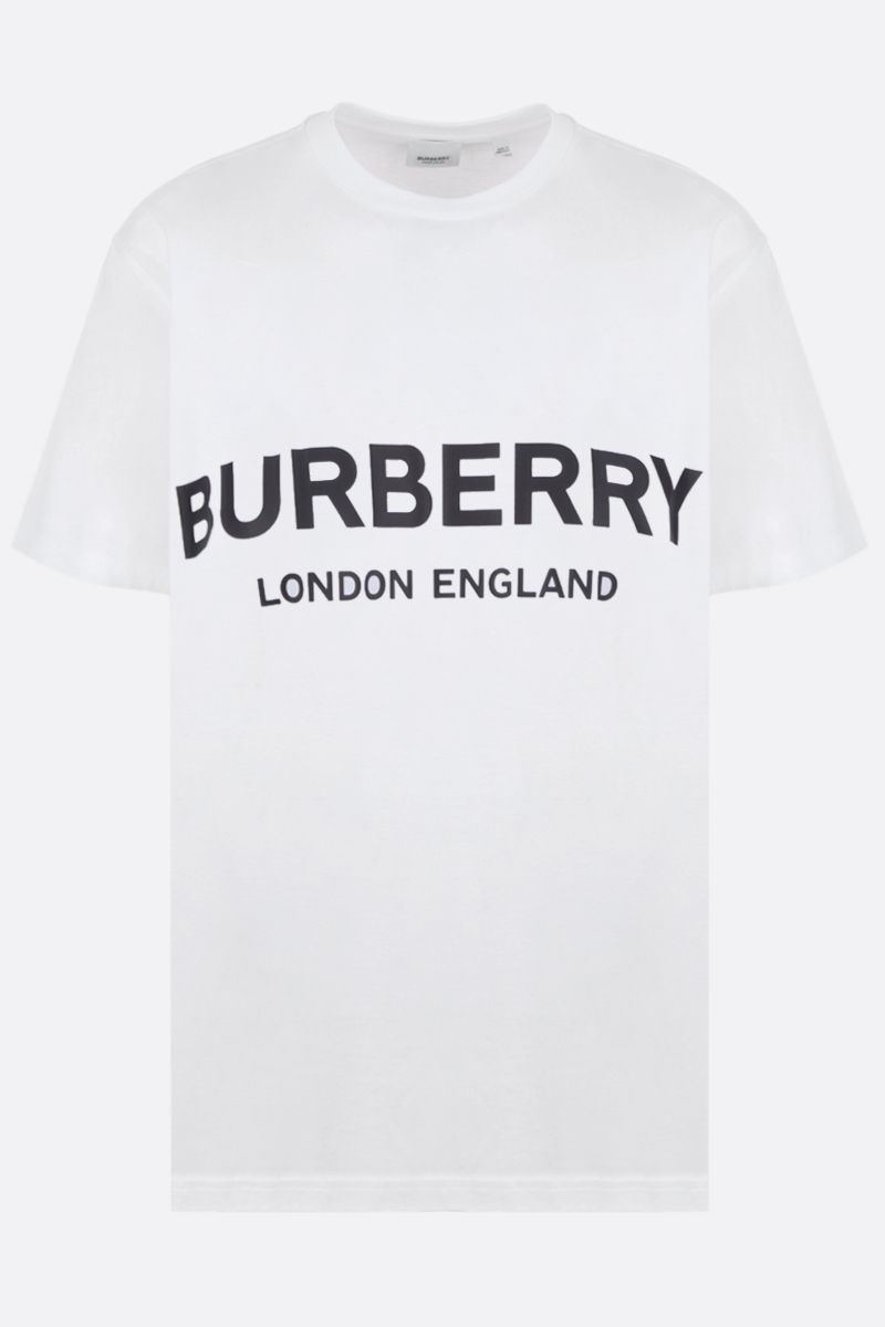BURBERRY: Shotover cotton t-shirt Color White_1