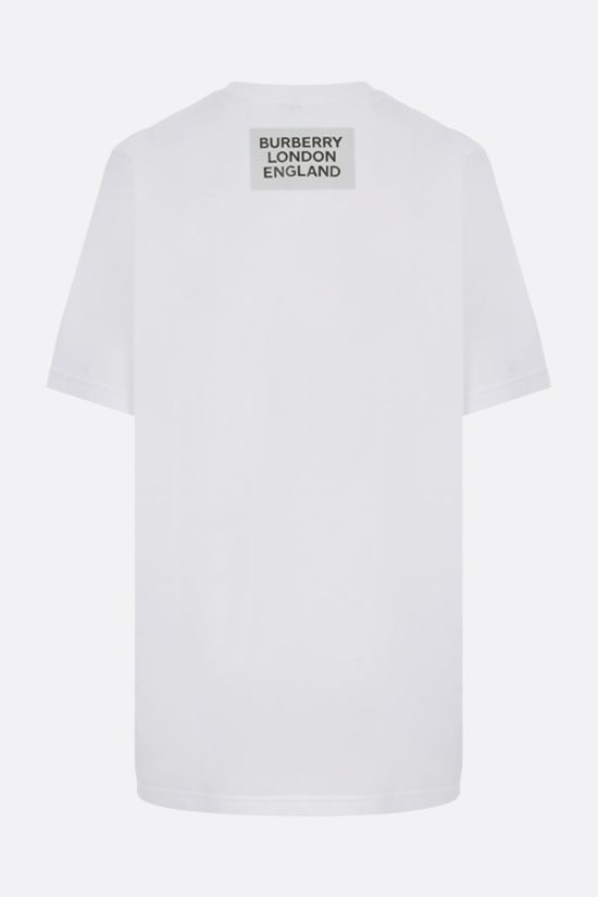 BURBERRY: Carrick oversize cotton t-shirt Color White_2